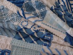 Baby Quilt made from Vintage Chenille in Blue & by craftscraftydeb, $135.00