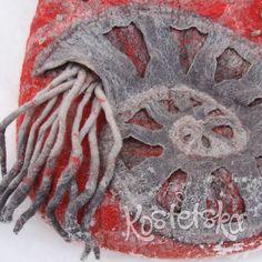 Bag. Natural wool. Handmade.