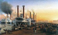 New-Orleans-Hippolyte Sebron - Bateaux A Vapeur Géants 1853.jpg
