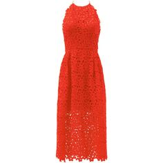 Rental Cynthia Rowley Cherry Red Lace Halter Dress ($75) ❤ liked on Polyvore featuring dresses, red, lace halter dress, red halter top, halter cocktail dress, halter top and sleeveless dress