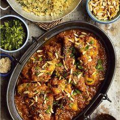 Yummy Chicken Recipes, Yummy Food, Tasty, Saffron Recipes, Moroccan Chicken, Recipe Using, Vegan Recipes, Free Recipes, Cooking