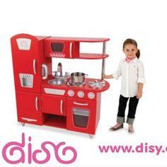 #cocinitasdemaderadisy, KidKraft Cocina estilo retro color rojo 53173, la cocinita de juguete en madera de la más alta calidad y más vintage que puedas encontrar ahora en color rojo. Irresistible para los niños que quieran ser un gran chef. PVP: 209€