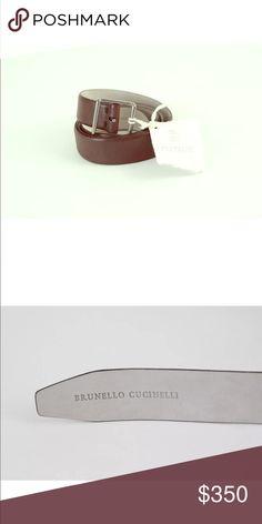"Brunello Cucinelli women's brown luxurious belt Brunello Cucinelli  Made In Italy    Brown Luxurious Leather Belt    100% Leather   Size Medium   Length From Buckle To First Hole 32.5"" Length From Buckle To Last Hole 35.5"" Width 1 1/4"" Brunello Cucinelli Accessories Belts"