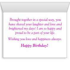 Birthday wishes for stepdaughter birthday messages and inspirational step daughter birthday cards bookmarktalkfo Images