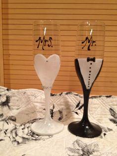 DIY Toast glasses :  wedding ceremony diy glasses inspiration pink reception toast Toast Glasses