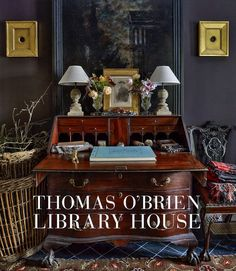 Thomas O'Brien: Library House captures the gorgeous architecture, interiors, lush gardens, and myriad collections of the effortlessly formal and classic home and design studio (The Library) next door to his celebrated Academy house. Interior Design Books, Book Design, Interior Styling, Interior Paint, Desk Styling, Interior Accessories, Design Design, House Design, Long Island