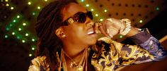 Versace 424 sunglasses worn by Takeoff in FIGHT NIGHT by Migos (2014) @versaceofficial