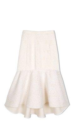 Tibi - Cloque Midi Skirt