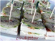 Mini sandwich al cetriolo