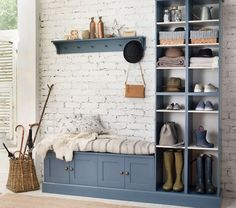 Nice Wonderful Inspiration With 25 Boot Rooms Design and Mudrooms Idea Some people might sound familiar with the boot room and mudroom. Boot room and mudroom is a storage that can not be separated. And a separate bedroom . Boot Room, Porch Storage, Boot Room Storage, Wall Storage, Hallway Storage, Modular Walls, Storage House, Hallway Cupboards, Hallway Shoe Storage