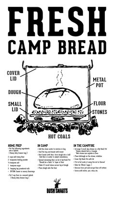 bushsmarts: How we make camp bread using a light weight aluminum pot. noted.