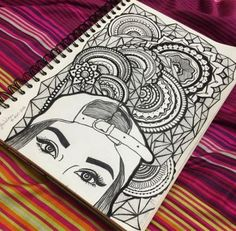 Doodle Art Drawing, Zentangle Drawings, Dark Art Drawings, Mandala Drawing, Art Drawings Sketches, Pencil Art Drawings, Cute Drawings, Doodling Art, Tattoo Sketches
