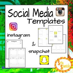 """Use these as an entrance or exit slip, or as a bulletin board beginning of the year to have students introducing themselves, bulletin board for students to tell their """"Snapchat Story"""" from break, or retell a story you worked on in class. There are six pages of templates included- my Snapchat Templates AND my best-selling Instagram Templates!I would LOVE any feedback you give if you download and use this product!How to get TPT credit to use on future purchases: Please go to your My Purchases…"""