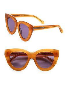 karen walker - anytime cat's-eye acetate sunglasses - saks.com