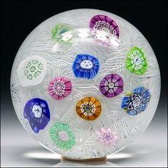 Perthshire Studio Art Glass Ltd Ed 1972 PP11 Spaced Millefiori Paperweight | Pottery & Glass, Glass, Art Glass | eBay!