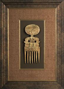 Framing Idea:  Custom framing of valuable objects, such as antiques.