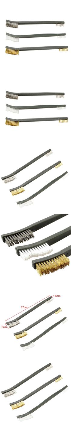 3pcs/Set High Quality Wire Brush Cleaning Kit For Hand Gun Hunting Tactical Rifle Cleaning Tool Brush Set Airsoft New