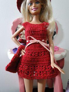 Barbie, Crochet, Miniaturas, Artesanato e Coisas Mais - De Tudo Um Pouco e Muito Mais: Roupa de Crochê Para Barbie Com Gráfico