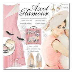 """Ascot Glamour"" by petri5 ❤ liked on Polyvore featuring Oscar de la Renta, Manolo Blahnik, Dolce&Gabbana, Olympia Le-Tan, John Lewis and Illamasqua"