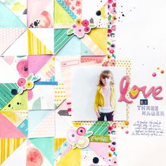 Love My Threenager by @paigeevans #scrapbooking