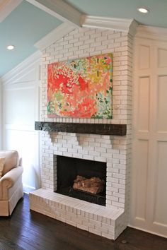 House of Turquoise: love the white brick.