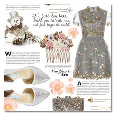"""NYE ~Dance party~"" by dolly-valkyrie ❤ liked on Polyvore featuring Valentino, Betsey Johnson, Mary Frances Accessories, Accessorize and nyestyle"