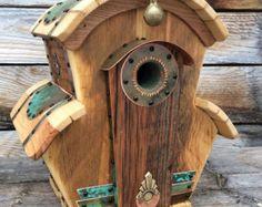 Unieke Cotswolds Songbird Birdhouse teruggewonnen gerecycleerd