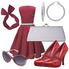c73020e6ef 11 fantastiche immagini su abbigliamento anni 50   Cute dresses ...