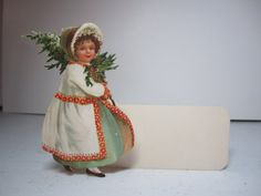 Adorable unused 1920's die cut Germany christmas by puffadonna