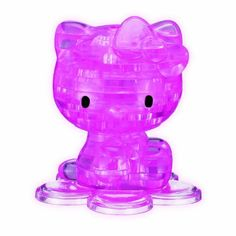 2ae7824a06 Amazon.com  3D Crystal Puzzle - Hello Kitty by Bepuzzled  Toys   Games