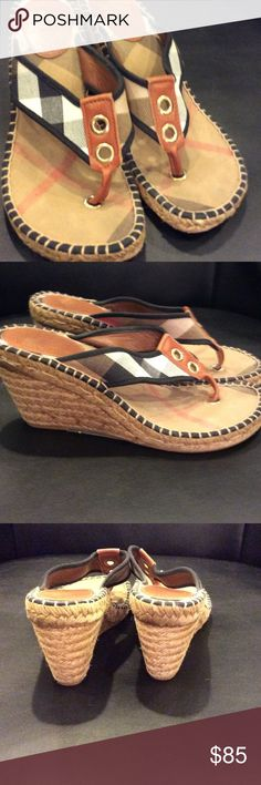 Burberry shoes size 7.5 Burberry wedge Burberry Shoes