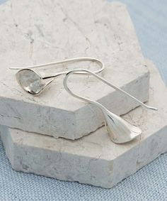 Love this Sterling Silver Lily Drop Earrings on #zulily! #zulilyfinds