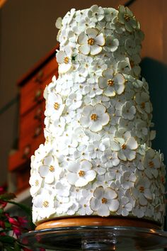 wedding cake! But add purple and blue flowers!(: