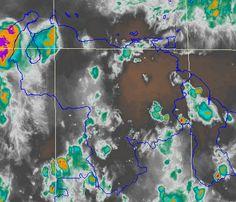 Satélite WV23:15UTC: Buen tiempo sobre Bolívar, Monagas, Delta A. y Mgta. Aire seco desde el Este lo favorece
