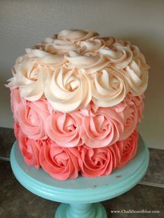 How to Make an Ombre Rosette Cake--try for Maris' bday