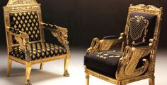 Italian Chairs European Style Seating Italian Wing Chairs needs more red Antique French Furniture, Italian Furniture, Versace Furniture, Empire Furniture, Gold Furniture, Furniture Nyc, Luis Xvi, Cheap Patio Furniture, Garden Table And Chairs