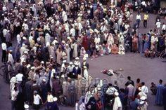 Djemaa el Fna, 1962 Czychowski/Timeline Images #1960 #60er #60s #Marokko #Morocco #Markt #Märkte #Market #Marktplatz #Maghreb