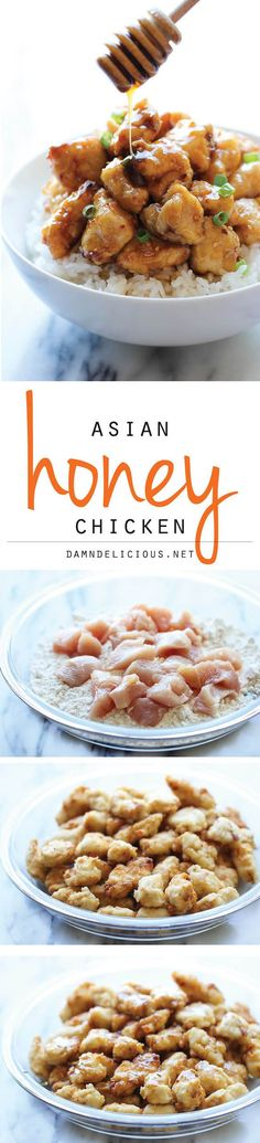 Asian Honey Chicken  A take-out favorite that you can easily make right at home – and the homemade version tastes a millions times better!