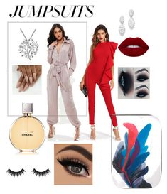 """1."" by luana1208 on Polyvore featuring Chanel, Bloomingdale's, Morphe and jumpsuits"