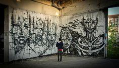 French street artist Iemza.