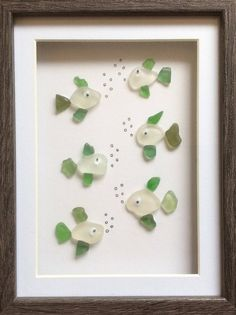 Scottish Sea Glass Seaglass Fish beach glass art seaside