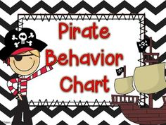 Pirate Behavior Chart for behavior management- less wordy! 7 levels of behavior tracking for a pirate themed classroom -Treasured Behavior -Flying High -Happy Pirate -Smooth Sailing -Danger Ahead -Rough Seas -Sunken Ship Behavior Tracking, Behaviour Chart, Behavior Management, Classroom Management, School Decorations, School Themes, Classroom Themes, Classroom Organization, School Ideas