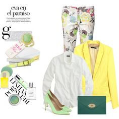 Styling a floral panths., created by gul07 on Polyvore