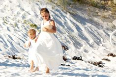 Flower Girl Dress  Ring Bearer Suit Beach Wedding Destin, Florida Beach Wedding Santa Rosa, Florida Beach Wedding