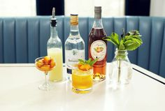 Just peachy! http://www.thecoveteur.com/peach-cocktail-recipe-cafe-clover/
