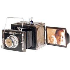 Antique Camera Picture Frame & Clock @Brandi Jones Ribera Hamm @Samantha @This Home Sweet Home Blog Clark