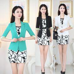wholesale Temperament Long Sleeve Women Blazer Dress 2-piece Dress ...