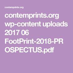 contemprints.org wp-content uploads 2017 06 FootPrint-2018-PROSPECTUS.pdf