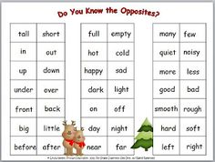 FREE reference chart for opposites
