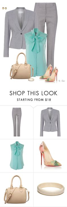 """""""Respect"""" by ksims-1 ❤ liked on Polyvore featuring HUGO, Moschino, Christian Louboutin and Gucci"""